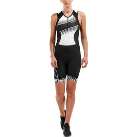 2XU Compression Triathlon-puku Naiset, black/black white lines